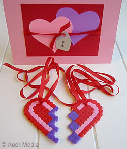 Craft Ideas Hearts on Gcc   Craft Ideas   Valentine  S Day Gift   Heart Pendats Made Of