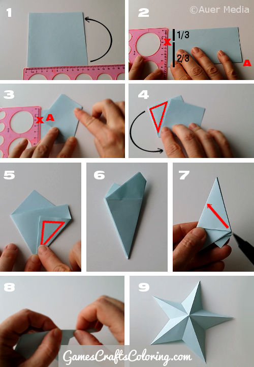 how to make a paper folded game