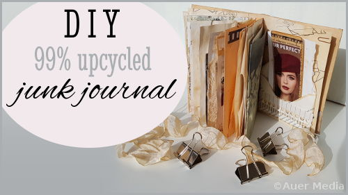DIY Junk Journal: 99% upcycled junk journal challenge
