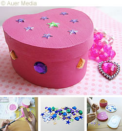 Craft Ideas Hearts on Craft Ideas   Decoration   Gifts   Decorated Heart Box   Gift Box
