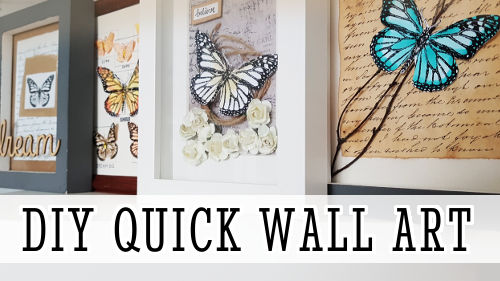 DIY Wall Art Ideas with Printable Butterflies