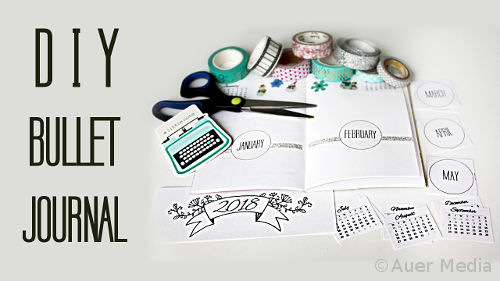 DIY Bullet Journal With Printable Calendar