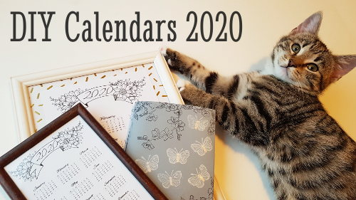 Printable Calendars 2020 - DIY Wall / Desk Calendar & Planner