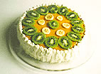 Birthday cakes - Fresh fruit cream cake